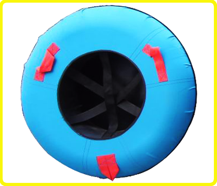 Blue rubber inner tube sled , inflatable inner tubing snow , rubber snow inner tube