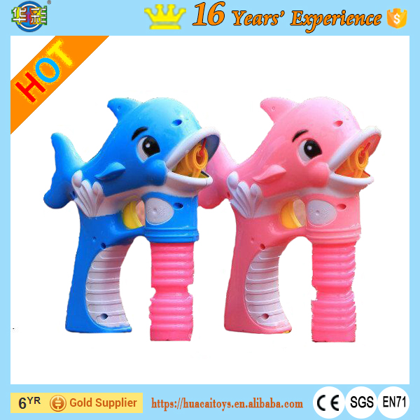 Automatic Electric Dolphin Bubble Gun for Kids with Light and Music