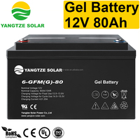 12v 80ah solar gel globe battery
