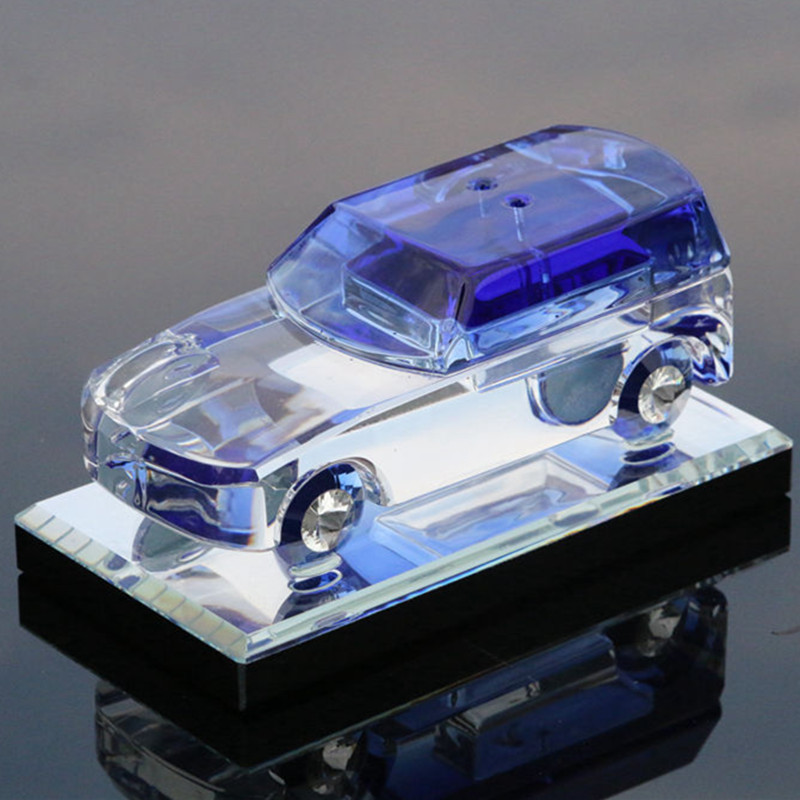 Landrover Blue Crystal Glass 1/18 Diecast Model Cars