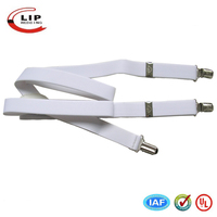elastic suspender with metal clips