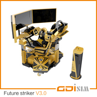 Future striker V3.0 / first-class racing & shooting game machine / car driving simulator