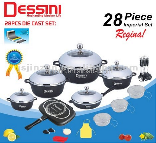 Dessini 28pcs prestige non-stick camping cookware set