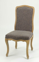 hand carved High back fabric material use handmade wood chair/ beech wood chair(Ch-838)