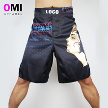 costom spandex plain blank sublimated mma compression fight shorts for men