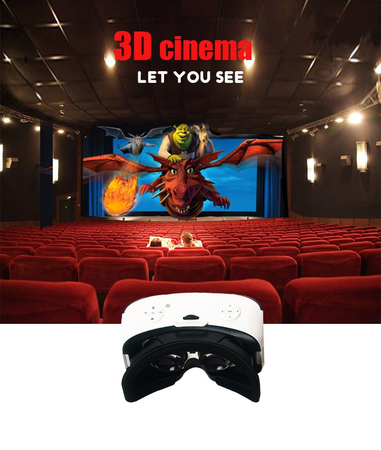 all in one 3d Vr Box Headset 3d vr case with built in screen
