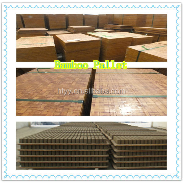 Wood pallet for brick machine