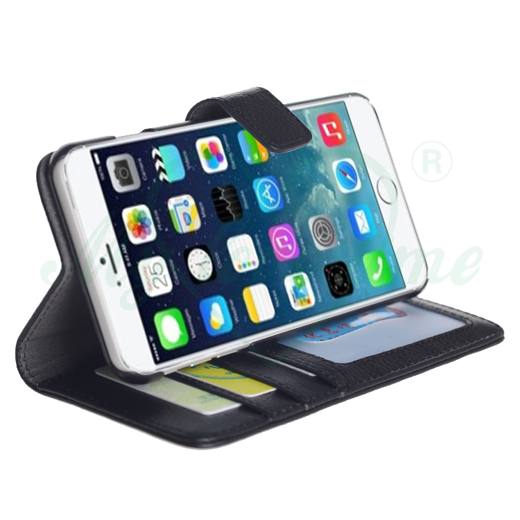 Folding leather smart cover case for iphone 6 plus