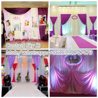 wedding party supply, pipe and drape wedding backdrop