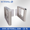 Electronic Security Swing Barrier Gate Access Control System for Supermarket
