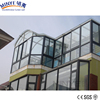 tempered glass roof aluminum sun room/ sunroom / glass house/ Shanghai factory price winter garden/greenhouse