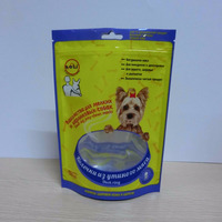 Stand up pouch dog food packing bag plastic bag with zipper