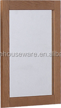 Simple Rectangle Wood Veneer Wall Mounted Mirror, MDF Mirror Frame