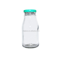 200ml small glass milk bottle with 38mm lids