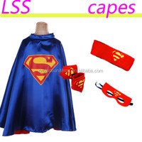 2016 fashion superman cloaks with mask, mix colors superhero boutique boys cosplay party cloak, wholesale kids costume capes