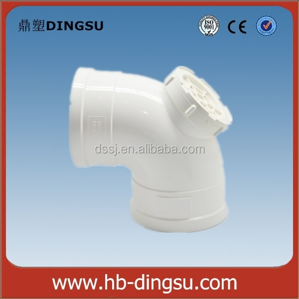 ISO 2015 competitive price PVC Drainage Elbow fitting/PVC 90 Degree Elbow With Cleanout