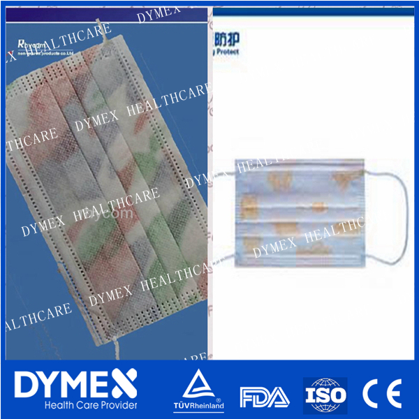 Surgical Face Mask/Disposable Nonwoven Flower Printed Face Mask /3ply Face Mask