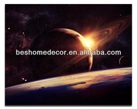 outer space in modern art wall decoration with firwood frame