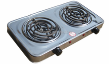2016 new coil hot plate stainless steel 2 burner electric stove cooking hot plate electric hot plate for sale