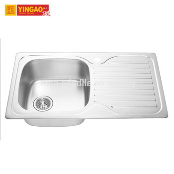 Commerical Restaurant Stainless Steel single bowl undermount kitchen sink