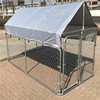 2015 Eco-friendly and stocked safe convenient cheap fashionable powder coating wrought iron dog kennels/cages