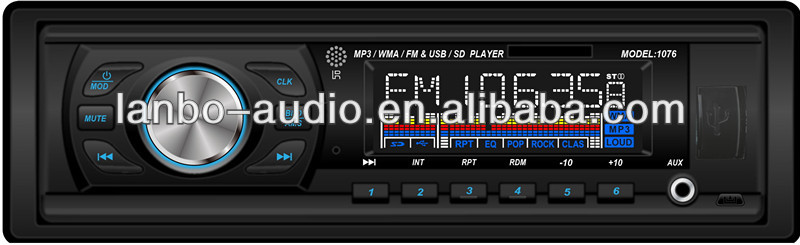 car mp3/usd/sd player with BT/AM optional detachable panel