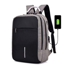 Usb Anti-Theft Waterproof Leisure Fashion Laptop Backpack Bag With a Combination Lock