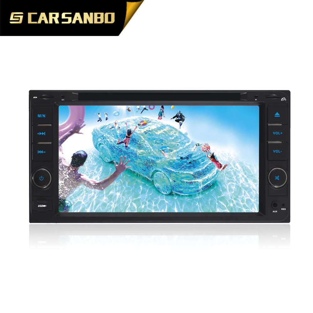Manufacturer 2 din universal vision car dvd player with TV and FM