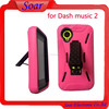 3 in 1 Belt Clip shockproof Case for Blu dash music 2 , Silicone+PC Hard Case with Kickstand for Blu dash music 2