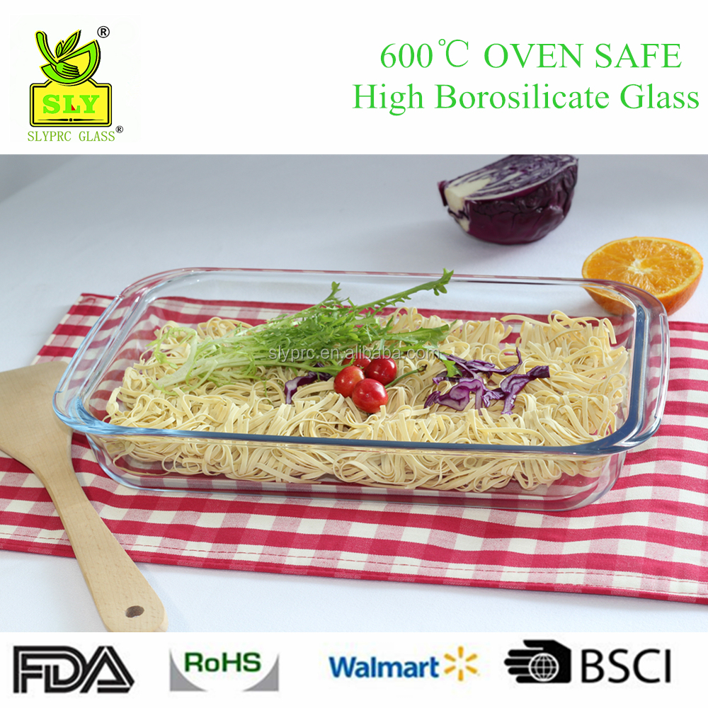 3LHeat Resistant Borosilicate Glass Baking Dish Rectangular Glass Ovenware