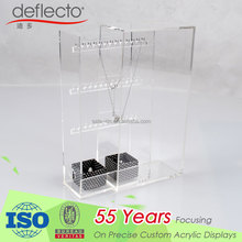 New Design Acrylic Jewelry Display Box Stand Organizer for Earring and Necklace Storage Display