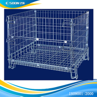 Warehouse Equipment Foldable Steel Wire Metal Cage de Stockage