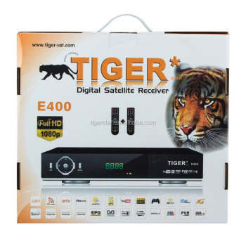 Tiger digital satellite receiver E400 free to air tv decoder android box free sample
