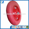 Yinzhu manufacturer 13 inch environmental red flat free polyurethane wheel 3.00-8
