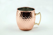 Hammered Stainless Steel Copper Mugs Drum Type Cup