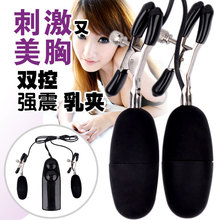 Double vibration nipple clamps ,Female masturbation Vibrator ,Sex Products Adult Game