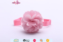 Fashion small newborn baby girl pink flower elastic hair bowknot headband