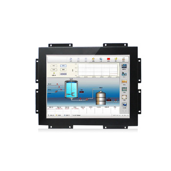 DC 12v open frame 15 inch touch monitor with menu buttons
