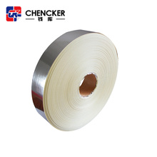 Heat activated industrial self adhesive glue glossy silver PET film tape