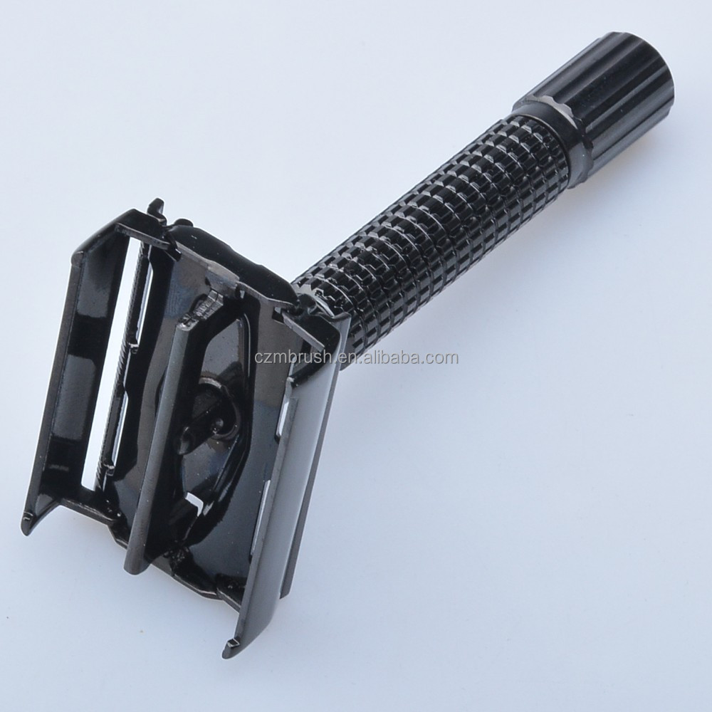 Super safety razor shaving razor black handle butterfly razor