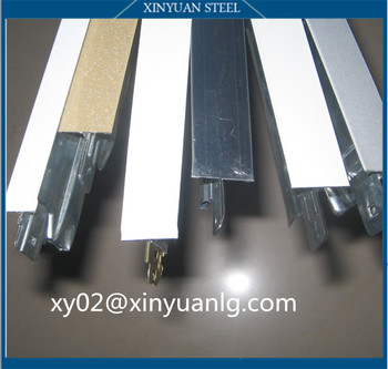 Flat galvanized T grid , Groove galvanized T bar