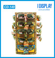 custom paper material rotating counter display stand for sunglasses
