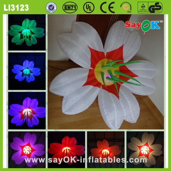 hanging led inflatable flower wedding flower party decoration