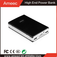 Top Quality 9000mah 10000mah Aluminium Alloy Smart Power Bank with LED Torch