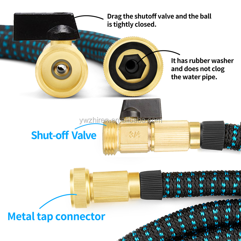 2018 Brass Fitting Bulk Garden Hose With Triple-Layer Latex 25ft 50ft 100ft