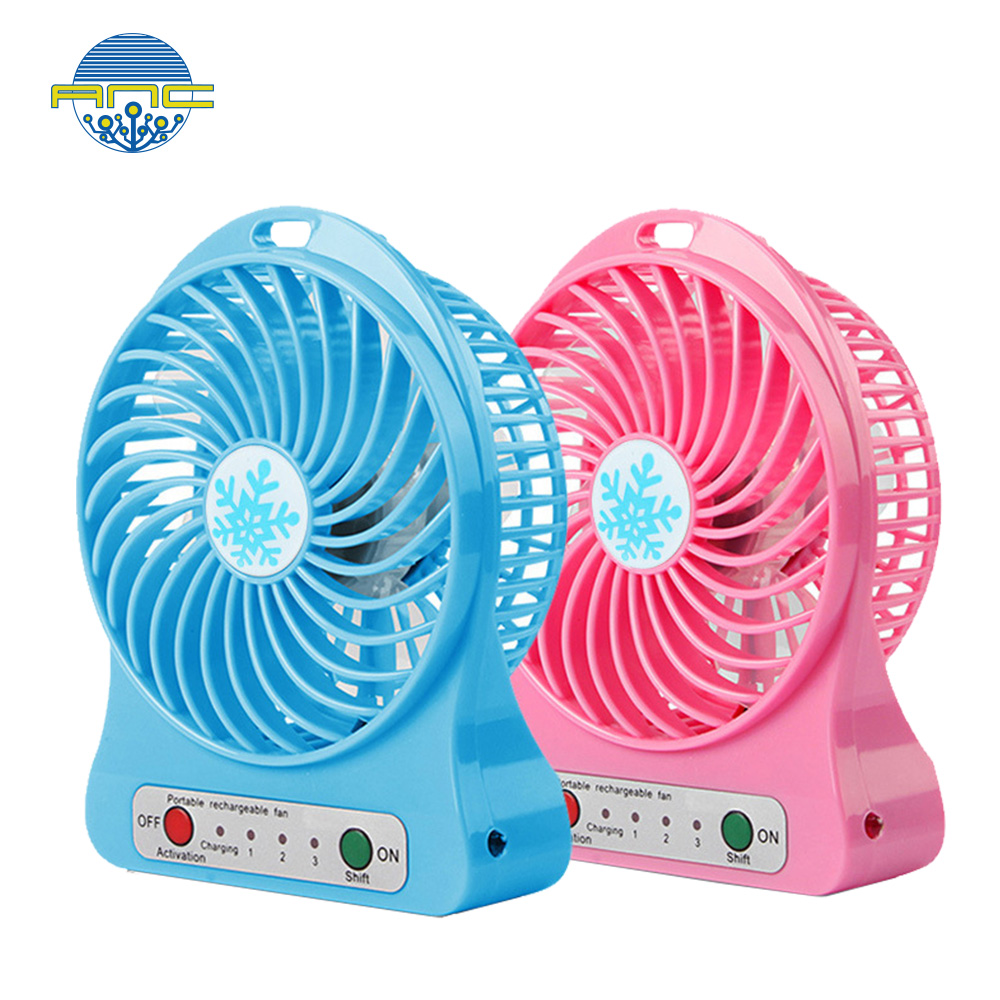 New design led shine usb mini fan, electric usb desk fan with good quality