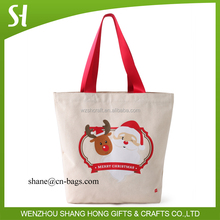 Christmas eco recycled thick canvas tote bag