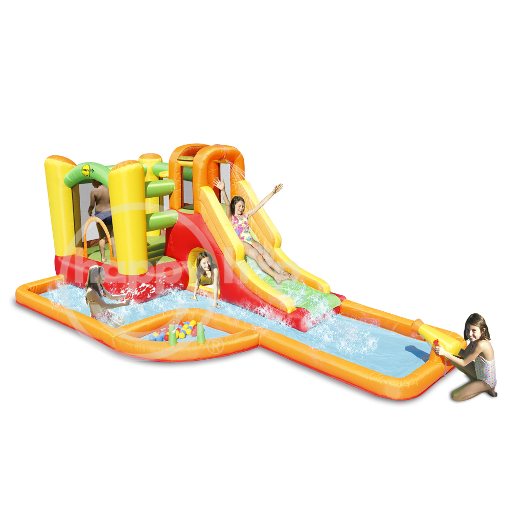 Happy hop 2017 new design Water Park Play Center-9281,inflatable bouncer and Water Slide Park for sale