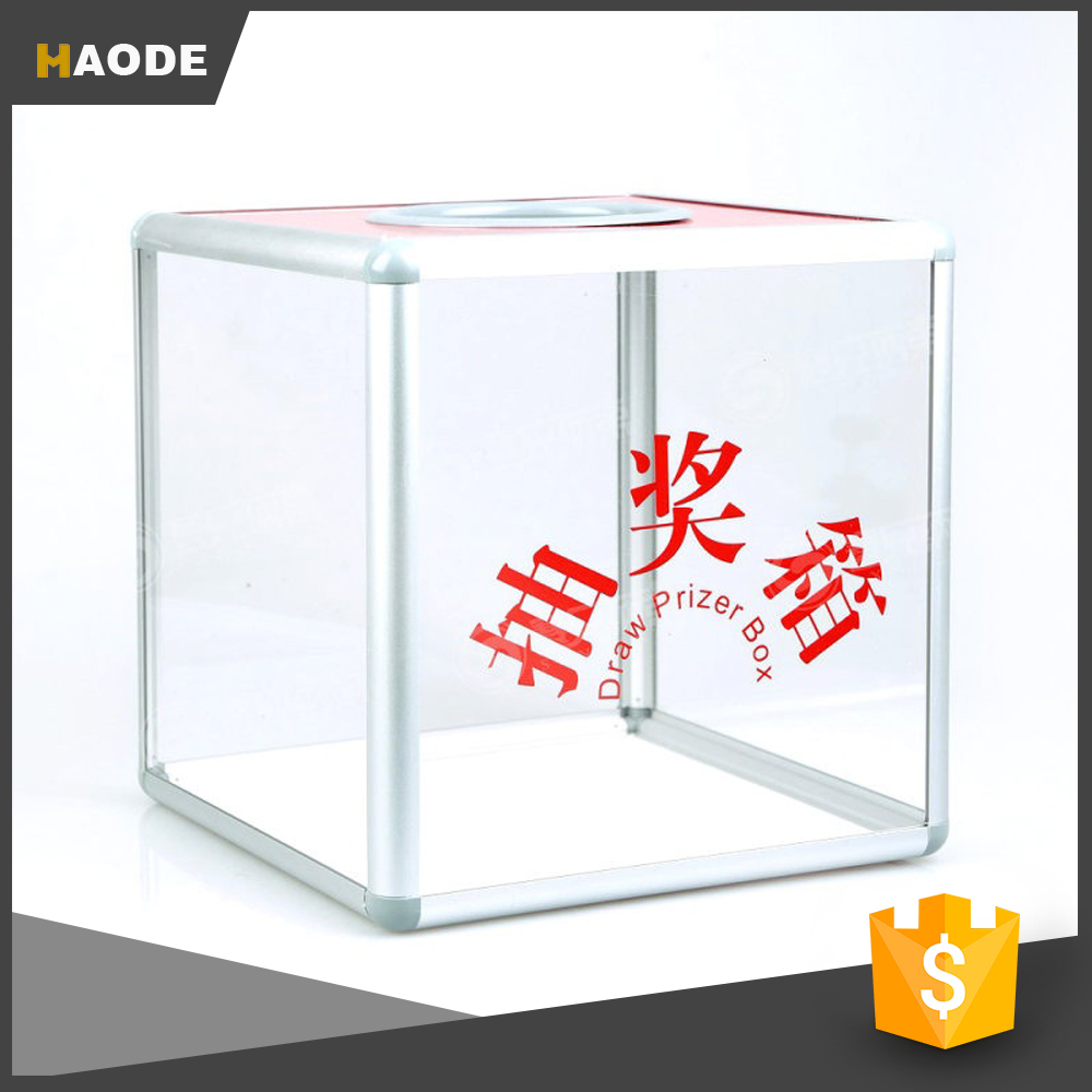 Wholesale Clear Acrylic Square Lottery Box