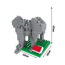 WANGE Plastic Stacking Animal model Funny Hippo And Elephant 2 In 1 building blocks